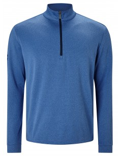 Stretch waffle pullover med...