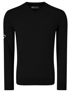 V-neck merino sweater herr...