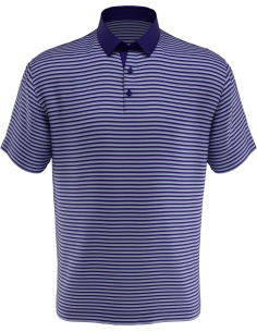 Pencil Stripe polo med brodyr