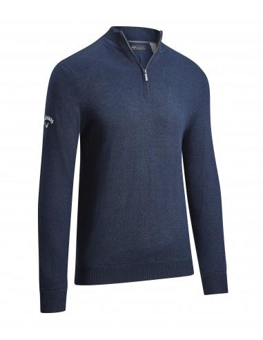 1/4 Blended Merino Sweater med brodyr