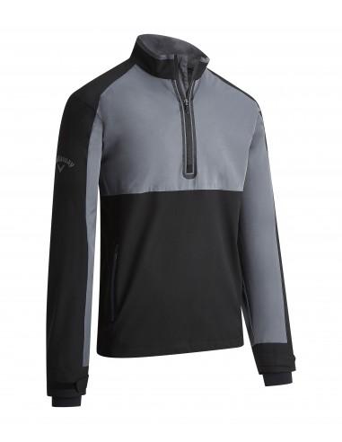 Block 1/4 Zip Wind Jacket med brodyr