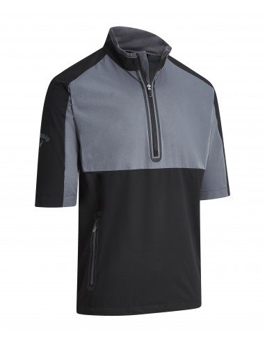 1/2 Sleeve Block Wind Jacket med brodyr