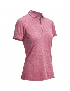 Short Sleeve Heather Polo...
