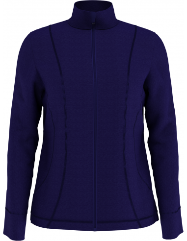 Heather Waffle-fleece Jacket med brodyr